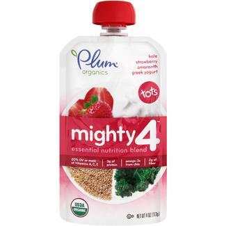 Organic kale, strawberry, amaranth, greek yougurt, Органическое пюре из клубники, кейла, йогурта и амаранта. С 12 месяцев. 113 грамм фото №1