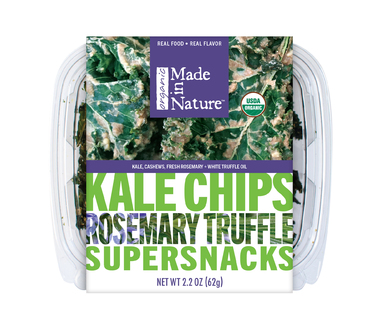 Kale Chips Rosemary Truffle Supersnacks Органический сушенный кейл с розмарином и трюфелем. 62 грамма. фото №1