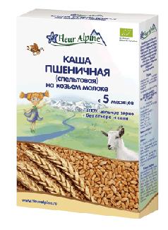 Каша пшеничная (спельтовая) на козьем молоке с 5 месяцев 200г фото №1