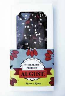 AUGUST. Натуральный шоколад без сахара Кизил-Киноа 100г фото №1