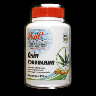 Натуральное конопляное масло в капсулах 180 капсул по 350 мг фото №1