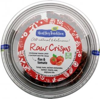 Healthy Tradition Хлебцы из льна «Raw Crisps томаты», 80г фото №1