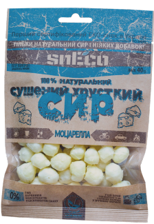 "Сушеный сыр snEco ""Моцарелла"" 40 грамм фото №1"