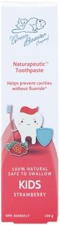 Органическая детская зубная паста Клубника Naturapeutic 100 мл фото №1