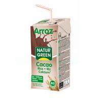 Органическое молоко рисовое с какао. Без сахара 200мл