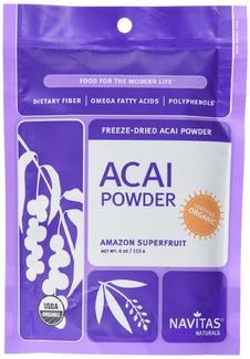 Acai Powder, органические ягоды асаи перетертые. Суперфуд. 113 грамм фото №1