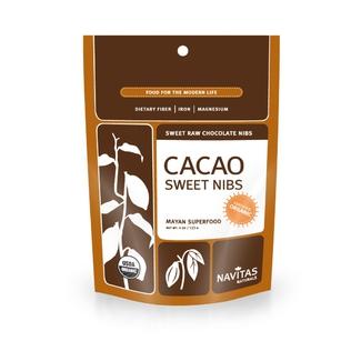 Cacao Sweet Nibs, органические дробленные какао-бобы. Суперфуд. Органик. 113 грамм фото №1