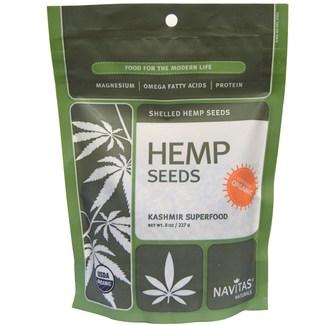 Hemp Seeds, органические дробленые и очищенные семена конопли. Суперфуд. 227 грамм фото №1