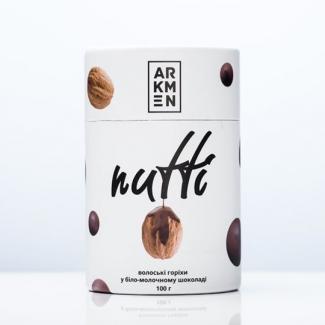 Грецкие орехи в белом и молочном шоколаде Nutti 100 грамм фото №1
