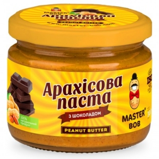 Натуральная арахисовая паста шоколадная, 300 грамм фото №1