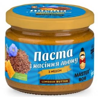 Паста из семян льна (урбеч) с медом, 200г фото №1
