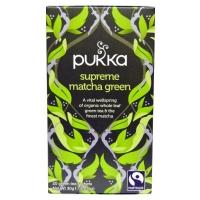 Supreme matcha green, органический зеленый чай матча. 20 пакетиков