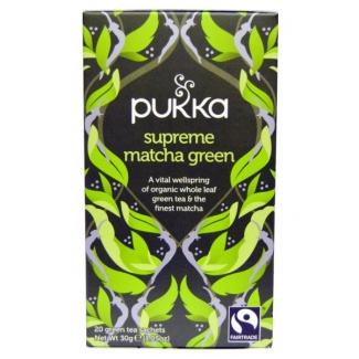 Supreme matcha green, органический зеленый чай матча. 20 пакетиков фото №1