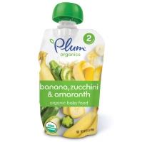 Organic Baby Food banana, zucchini, amaranth. Органическое пюре из банана, цукини и амаранта. Второй прикорм, с 6 месяцев. 99 грамм