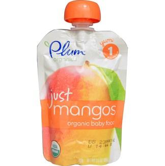 Organic Baby Food just mangos, Органическое пюре из манго. Первый прикорм .99 грамм  фото №1