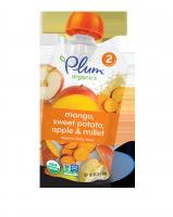 Organic пюре из манго, батата, яблока и проса (millet) 99 грамм 2 прикорм