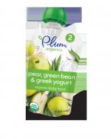 Organic пюре из груши, фасоли и греческого йогурта,  99 грамм. 2 прикорм