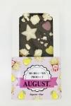 AUGUST. Натуральный шоколад без сахара с соленым попкорном и медовой грушей 100г