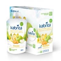 Фруктовое пюре со сливками козьего молока «Банан с печеньем и яблочным пюре» для детей с 8 месяцев 100 грамм
