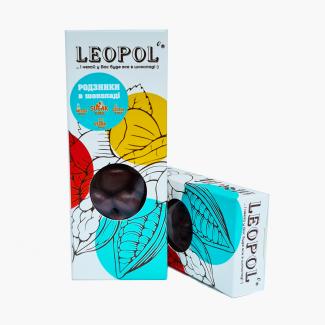 """Изюм в молочном шоколаде без сахара """"Leopol"""" 50 грамм фото №1"""