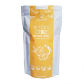 Цитрусовая гранола Апельсин - Куркума на масле ГХИ 300 грм фото №1