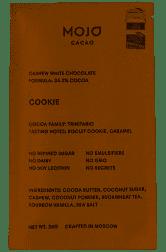 "Шоколад кешью с гречишным чаем ""Cookie"" Mojo Cacao 20 грамм фото №1"