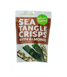 Seaweed crisps Almonds Хрустящие водоросли нори с миндальным орехом и кунжутными семечками фото №1