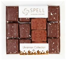 Ассорти авторских шоколадных конфет с маком,клюквой и орехами 170 грм