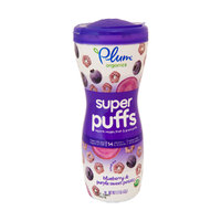 Supper Puffs Blueberry & purple sweet potato, органические воздушные звездочки, черника и батат. 42 грамма