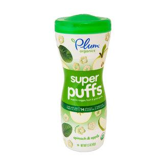 Super Puffs Organic Spinach & Apple Oрганические воздушные звездочки, шпинат и яблоко. 42 грама фото №1