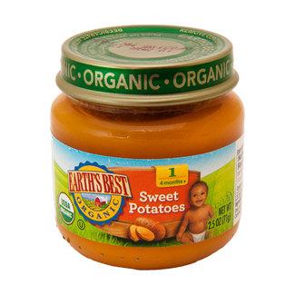 Sweet Potatoes Puree, Органическое пюре первый сладкий картофель (батат). Первый прикорм. 71 грамм            фото №1