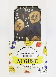 AUGUST. Натуральный цветочный шоколад без сахара с фруктами и орехами 100г фото №1