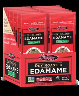 Сухие обжаренные зеленые соевые бобы Эдамаме с морской солью 22.5 грамм фото №1