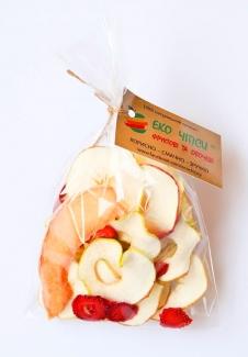 Эко чипсы яблоко, дыня и клубника, 50 грамм фото №1