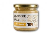 Арахисовое масло натуральное с медом 180грамм