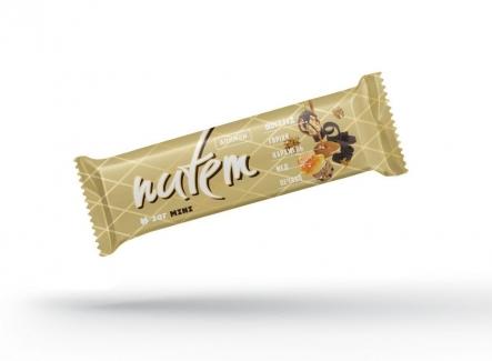 Шоколадный батончик с грецкими орехами, карамелью и печеньем NUTEM 35г фото №1